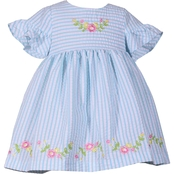 Bonnie Jean Toddler Girls Embroidered Hem Seersucker Dress
