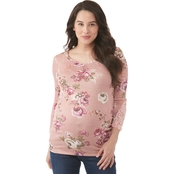 Planet Motherhood Maternity Hatchi Lace Top