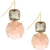 Jessica Simpson Goldtone Double Stone French Wire Earrings