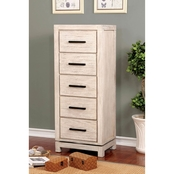 Furniture of America Strasburg Swivel Chest with Mirror