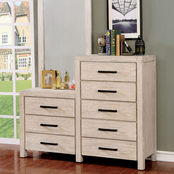Furniture of America Strasburg 8 Drawer Dresser and Mirror