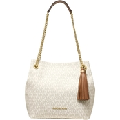 Michael Kors Jet Set Signature Chain Medium Shoulder Tote
