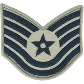Air Force Rank TSgt E-6 Subdued Large (ABU)