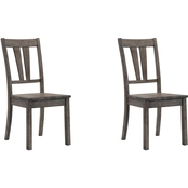 Elements Nathan Dining Chair with Wooden Seat 2 pk.
