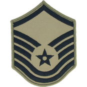Air Force Rank MSgt E-7 Subdued Small (ABU)
