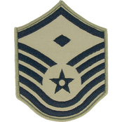 Air Force Rank MSgt 1st Sgt E-7 Subdued Small with Diamond (ABU)