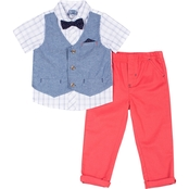 Little Lad Infant Boys Shirt, Pants and Mock Vest 3 pc. Set