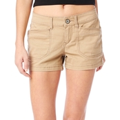 Unionbay Juniors Delaney 3.5 in. Stretch Twill Solid Shorts