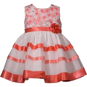 Bonnie Jean Infant Girls Ribbon Social Dress