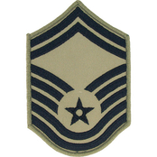 Air Force Rank SMSgt E-8 Subdued Large (ABU)