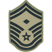 Air Force Rank SMSgt 1st Sgt E-8 Subdued Small with Diamond (ABU)