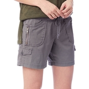 UNIONBAY Juniors Christy Convertible Knit Waist Shorts