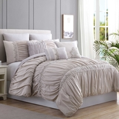 8 Piece Embellished Comforter Set - Rialto/Queen