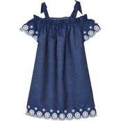 Cherokee Girls Chambray Scallop Dress