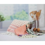 Peach and Oak Assorted Coral Kitchen Towel Bundle 3 Pack