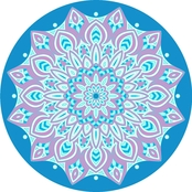 1888 Mills Sand & Surf Round Mandala 5 ft. Beach Towel