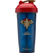 Marvel Perfect Shaker Performa Avengers Captain Marvel Bottle, 28 oz.