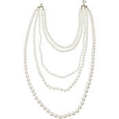 Jules B. Imitation Pearl 2 in 1 Necklace