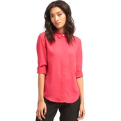 DKNY Roll Tab Top with Hidden Placket