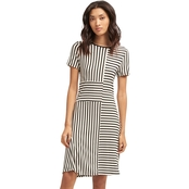 DKNY by Donna Karan Crew Stripe Dress