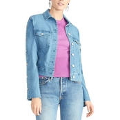 Rachel Roy Bobbi Snap Sleeve Denim Jacket