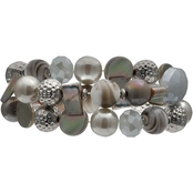 Jules B. 2-Row Mixed Beads Stretch Bracelet