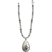 jules b Hammered Teardrop Pendant 17.5 in. Necklace