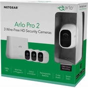 Arlo Pro 2 Wire Free HD 3 Camera Home Security System