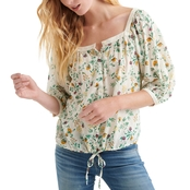 Lucky Brand Printed Banded Top