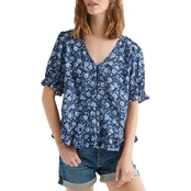 Lucky Brand Floral Printed Top