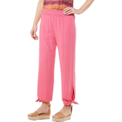 Passports Pull Over Bottom Tie Crop Pants