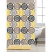 Chesapeake Zahara Shower Curtain and Bath Rug 14 pc. Set