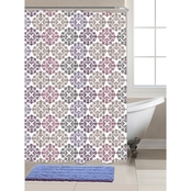 Chesapeake Merchandising Shower Curtain and Bath Rug 14 pc. Set
