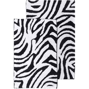 Chesapeake Safari 2 pc.Zebra Bath Rug Set