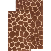 Chesapeake Safari Giraffe Bath Rug 2 pc. Set