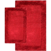 Chesapeake Naples 2Pc. Linen Bath Rug Set 38240 (21