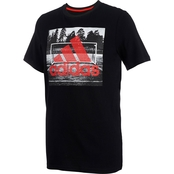 adidas Little Boys Field Court Graphic Tee