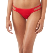 Damsel Juniors Lipstick Red Pique Swimsuit Bottom