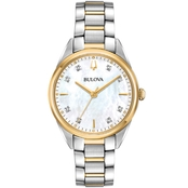 Bulova Women's Two Tone Diamond Accent Watch 98P184