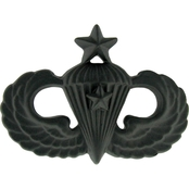 Army Senior Combat Parachutist First Award Badge Pin-On Sta-Black