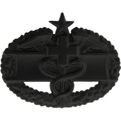 Air Force Combat Medical Second Award Badge Sta-Black