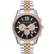 Michael Kors Men's Tri-Tone Stainless Steel Lexington Chronograph Watch