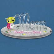 Glass Baron Mom Owl Always Love You Figurine