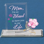 Glass Baron Rose Mom, I'm Blessed Figurine