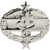Army Badge Regular Mirror Finish, Combat Medical 3rd Award