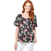 Passports Flutter Floral Twilight Top