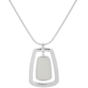 Nine West White Adjustable Chain Pendant