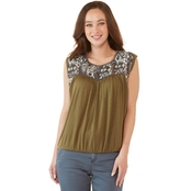 JW Tribal Jacquard Yoke Tank Top