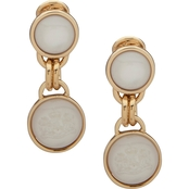 Lauren Ralph Lauren Goldtone Faux Mother of Pearl EZ Comfort Clip Earrings