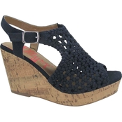 Jellypop Women's Gerry Woven Wedge Shoes